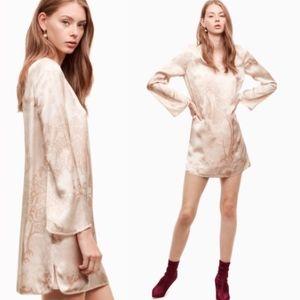 Aritzia Little Moon Brassia silk shift dress